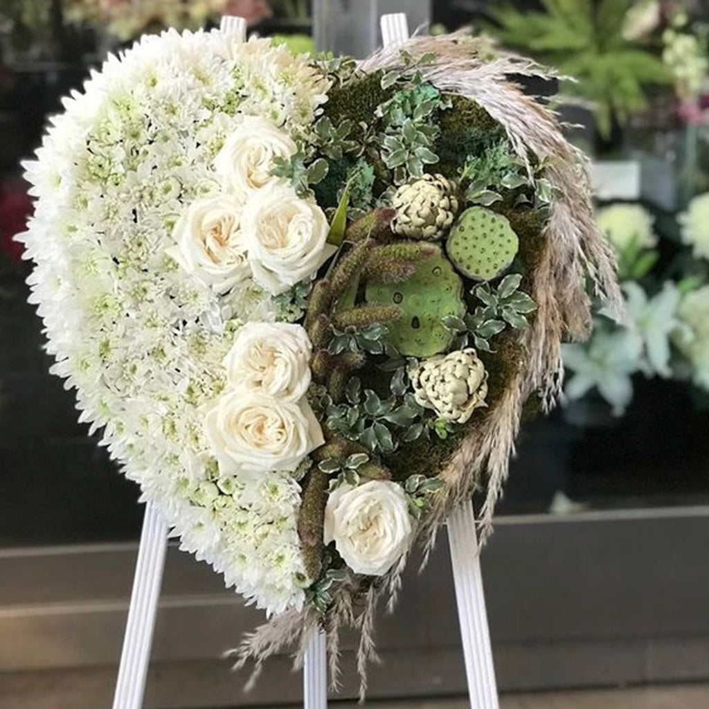 Natural Heart Sympathy Stand - STACY K FLORAL