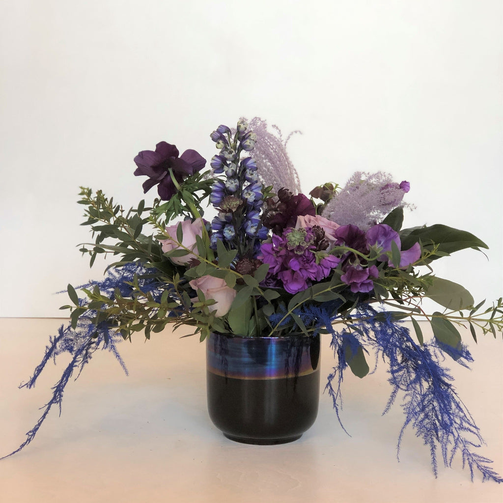 Iridescent Blues Floral Arrangement - STACY K FLORAL