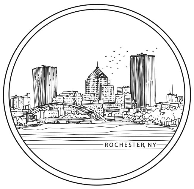 Rochester City Line Sticker