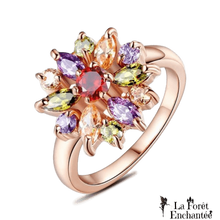 Bague pétales scintillants