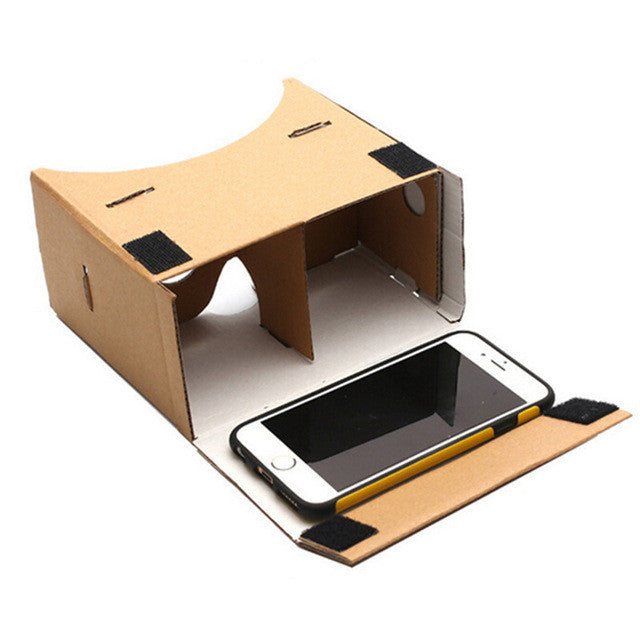 "DIY Google Cardboard Virtual Reality Glasses With Head Mount Strap Belt For 5.0"" Screen"
