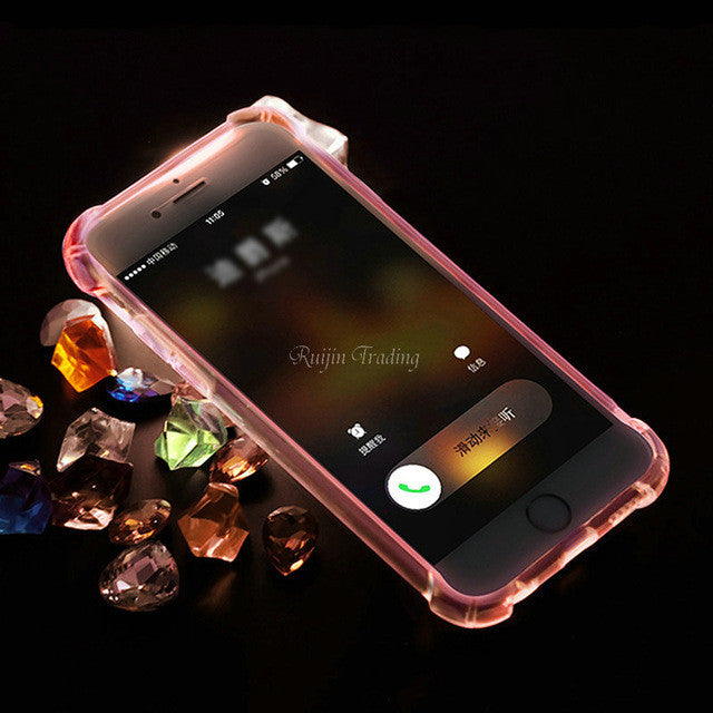 Luxury Shockproof Light LED Flashing Case For iPhone