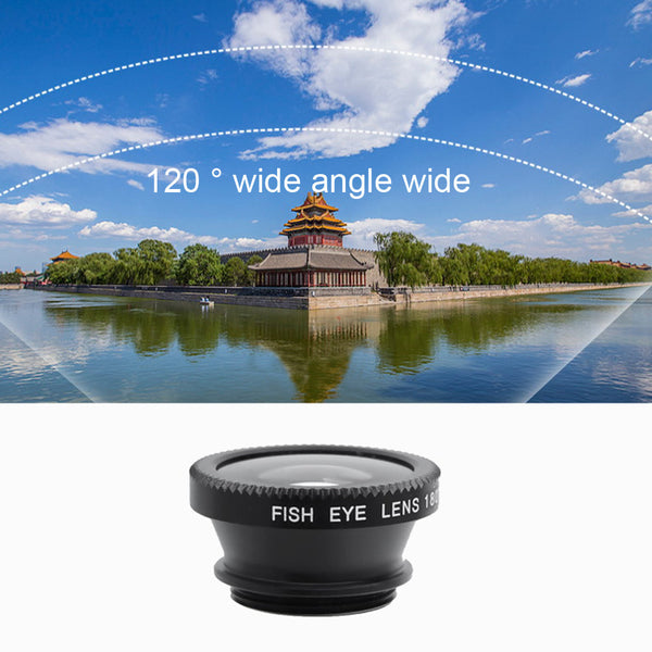 Universal 3 in 1 Camera Lens For iPhone, Samsung And Xiaomi
