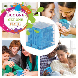 3D Cube Puzzle Money Labyrinth Make Your Lives