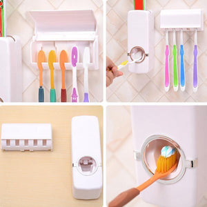 Automatic Toothpaste Dispenser Toothbrush Holder Set Make Your Lives