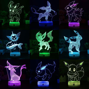 Color changing LED 3D Lamp Make Your Lives