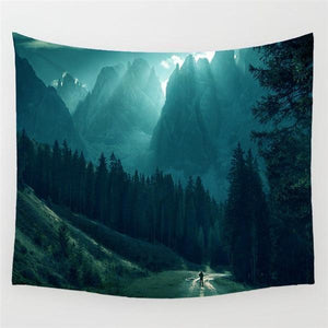 Foggy Forest Wall Hanging Tapestries Make Your Lives
