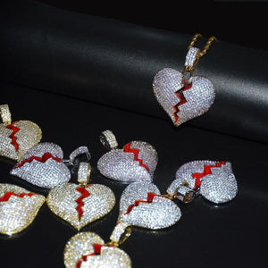 Frozen Heart Iced Out Pendant Make Your Lives