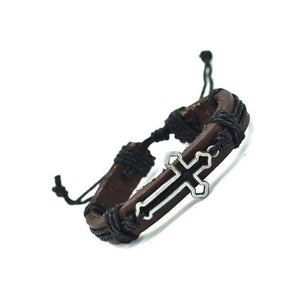 Genuine Leather Cross Bracelet Make Your Lives