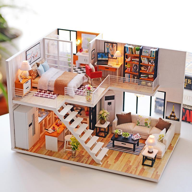 Handmade Wooden Doll House Makeyourlives Com 47 99 Free Shipping
