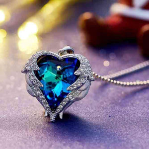 Heart Wings Pendant Swarovski Crystal Necklaces | Make Your Lives - $36.99