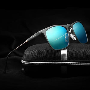 Mens Square Retro Aluminum Sunglasses Make Your Lives