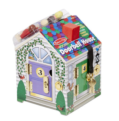 Melissa & Doug Wooden Take-Along Doorbell House