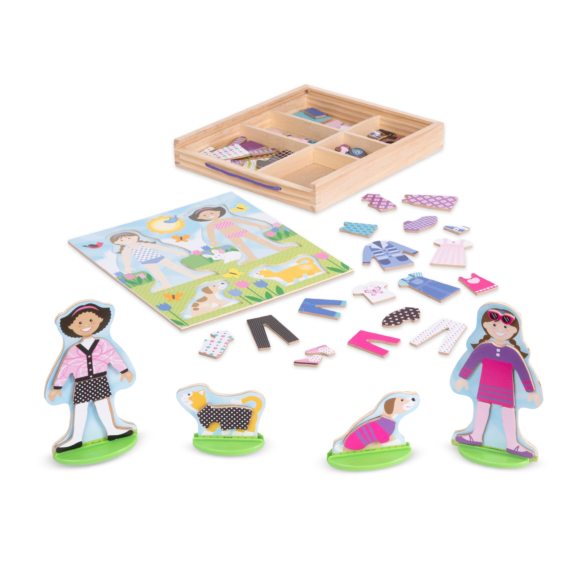 Melissa & Doug Best Friends Magnetic Dress Up Playset