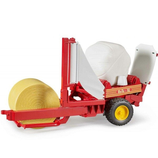 Bruder 02122 - Round Bale Wrapper and Bales - 1:16
