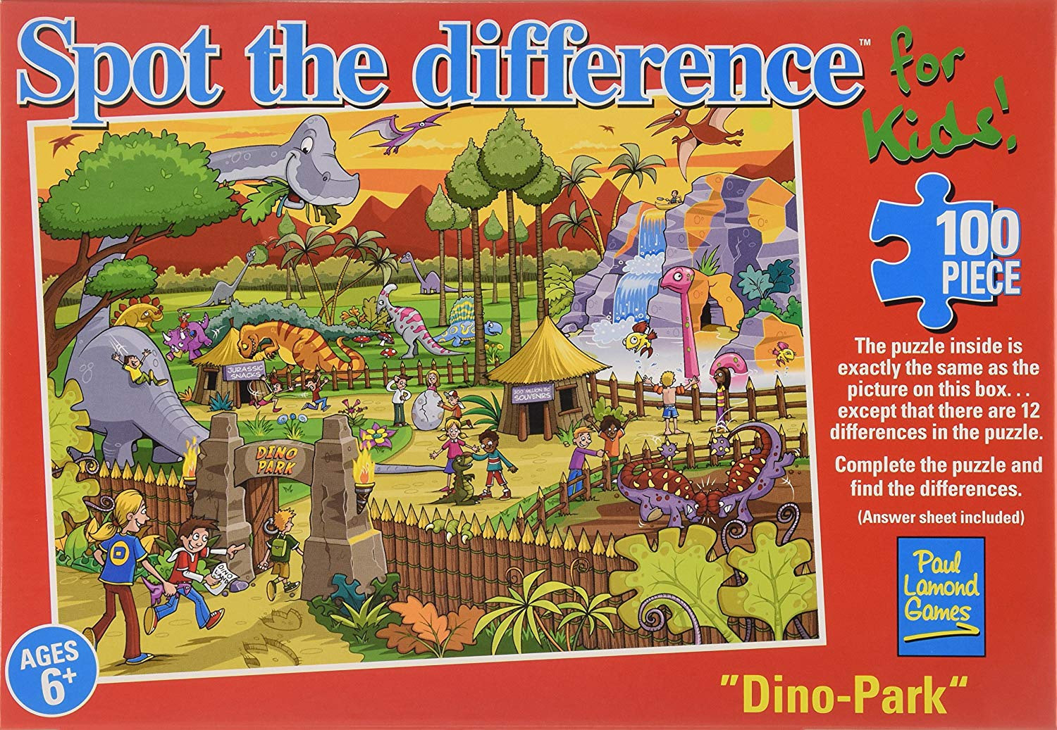 Spot The Difference Dino Park Jigsaw Puzzle