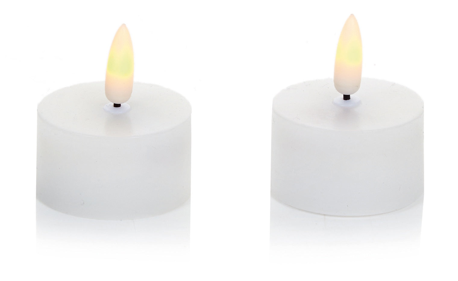 2Pce Flickabright Tealight w/Wax & Timer Set