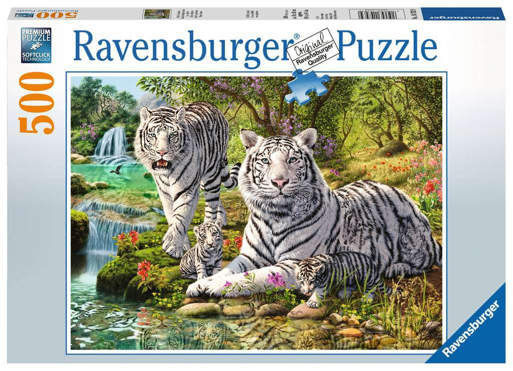 Ravensburger White Tiger Family 500pc Jigsaw Puzzle