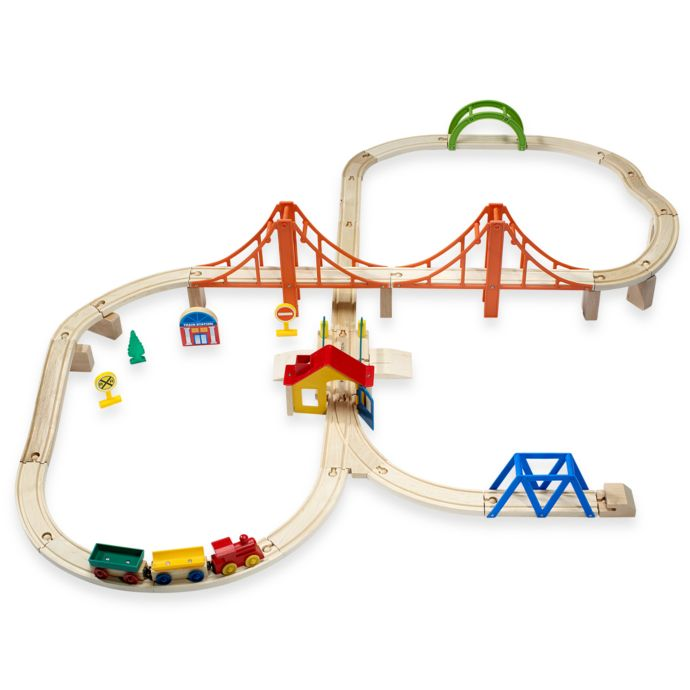 First Learning 60pc Wooden Train Set