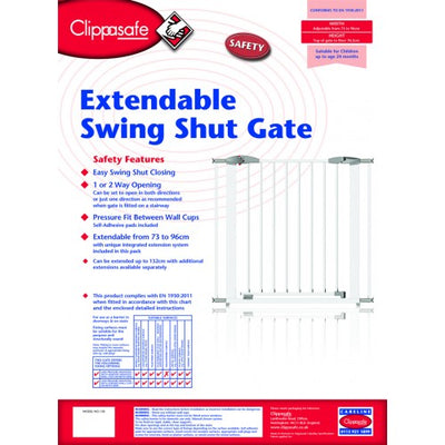 Clippasafe Swing Shut Extendable Gate