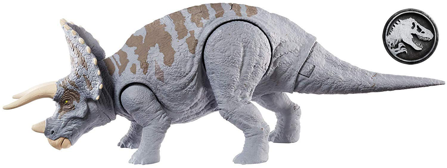 Jurassic World Dino Dual Attack Triceratops Grey