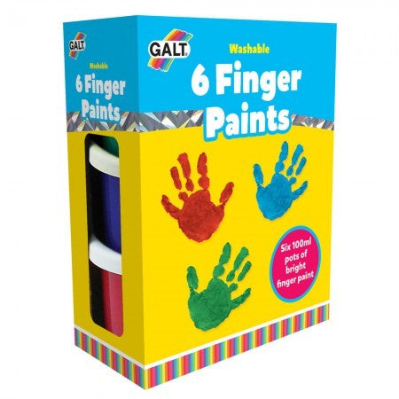 Galt 6 Washable Finger Paints