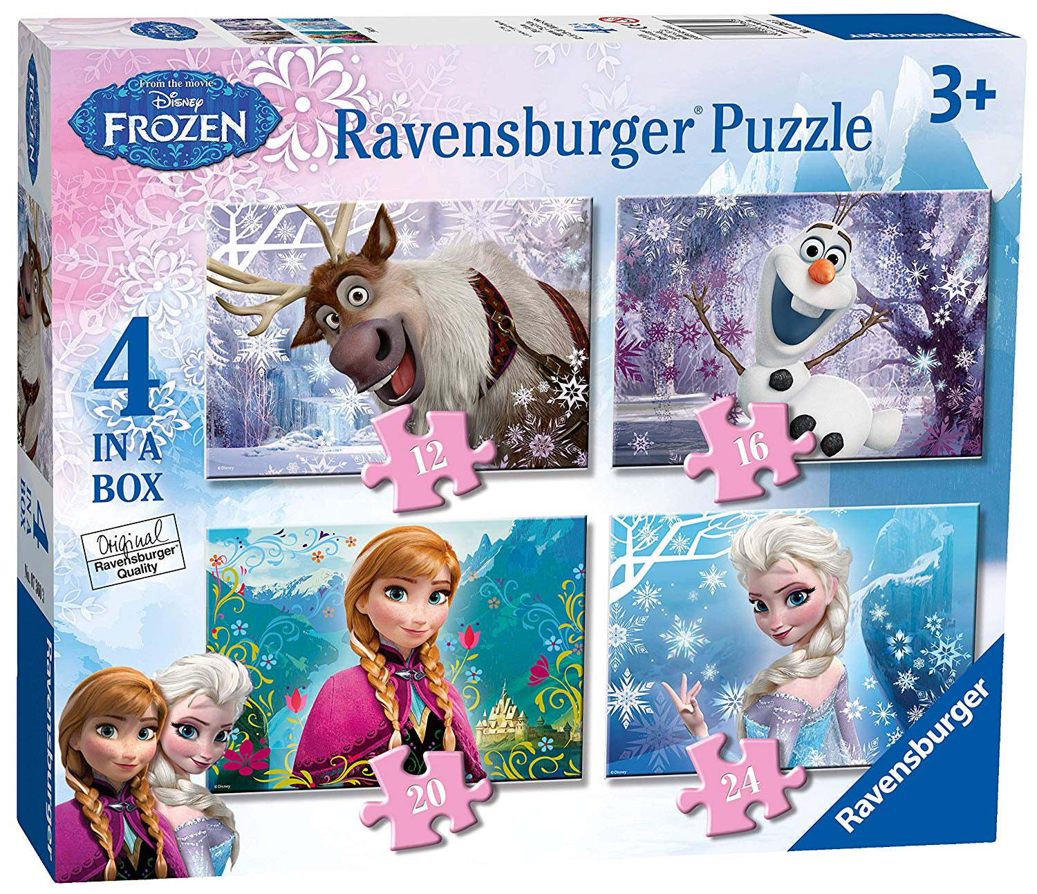Disney Frozen 4 in a Box Jigsaw Puzzles