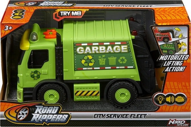 Road Rippers City Service Fleet Garbage Truck Green