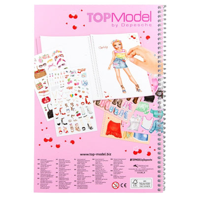 TOPModel Dress Me Up Sticker Book Cherry Bomb
