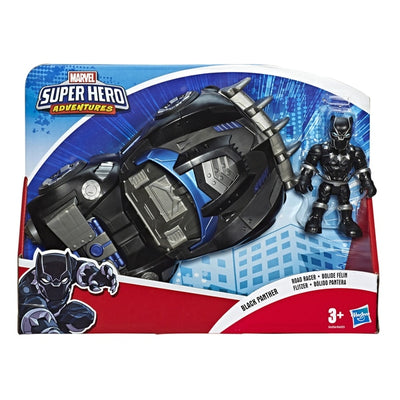 Playskool Marvel Super Hero Adventures Black Panther & Road Racer