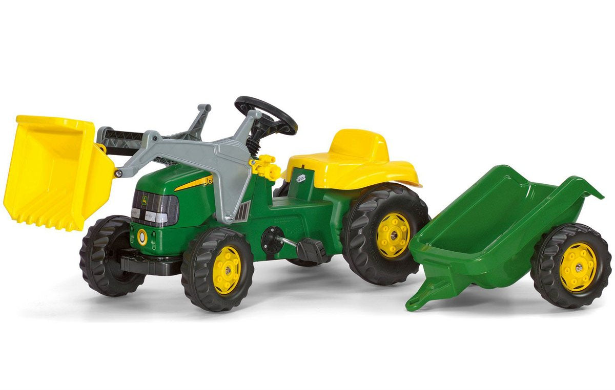 Rolly Kid John Deere Tractor/ Loader / Trailer