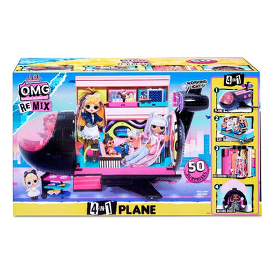 LOL Surprise! OMG Remix 4 In 1 Plane Playset