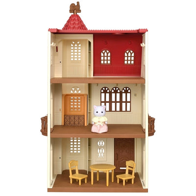 Sylvanian Families Red Roof Tower Home Gift With Figure And Furniture