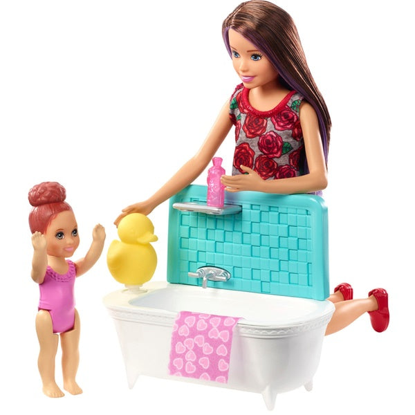 Barbie Skipper Babysitters Inc with Bath