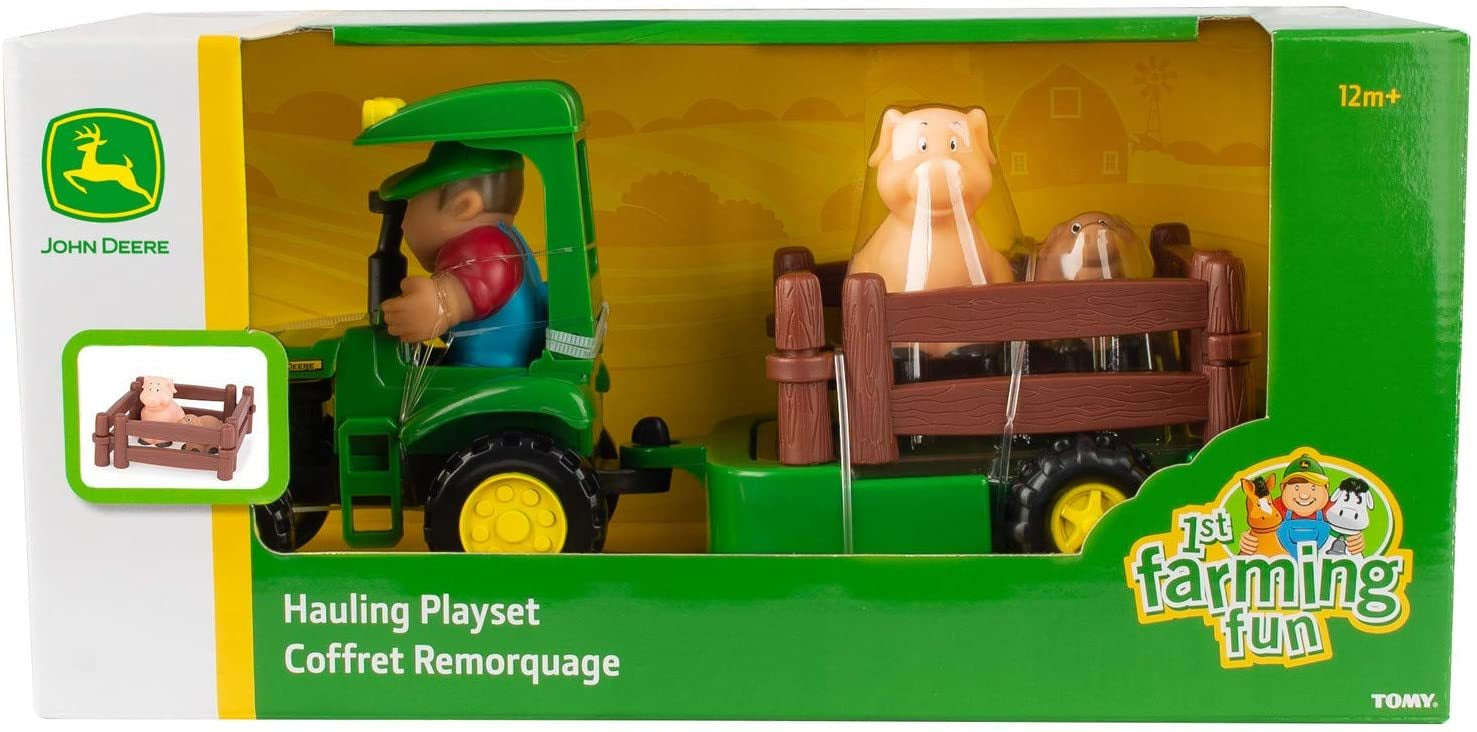 John Deere First farming Fun Hauling Playset