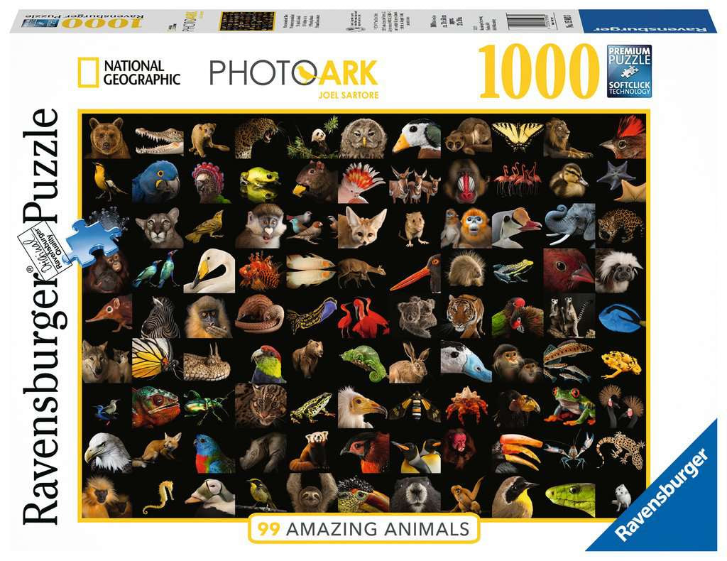 Ravensburger 99 Amazing Animals 1000pc Jigsaw Puzzle