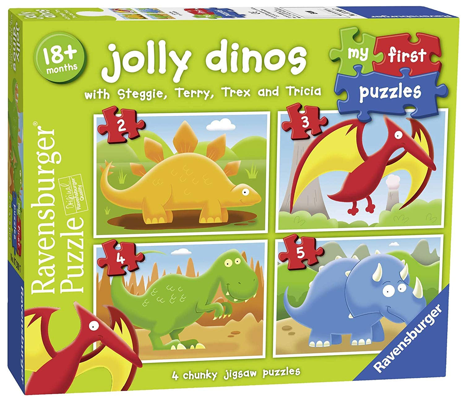 My First Jigsaw Puzzle Jolly Dinos
