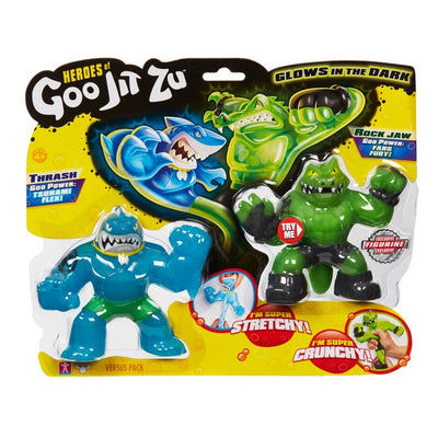 Heroes Of Goo Jit Zu Thrash vs Rock Jaw Double Pack