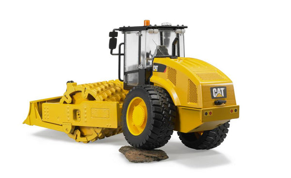 Bruder 02450 CAT Vibratory Soil Compactor with Levelling Blade