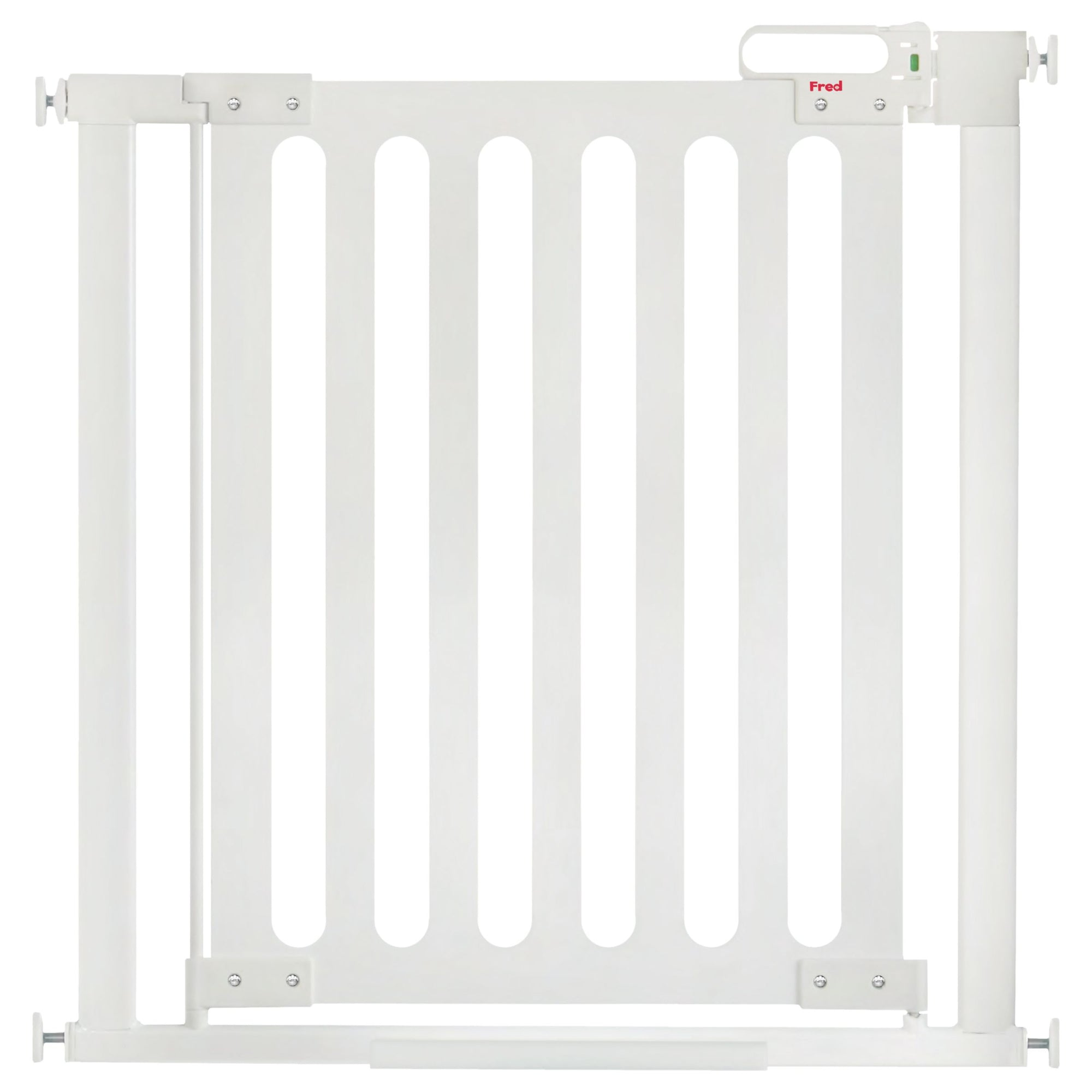 Fred Pressure Fit White Wooden Stairgate