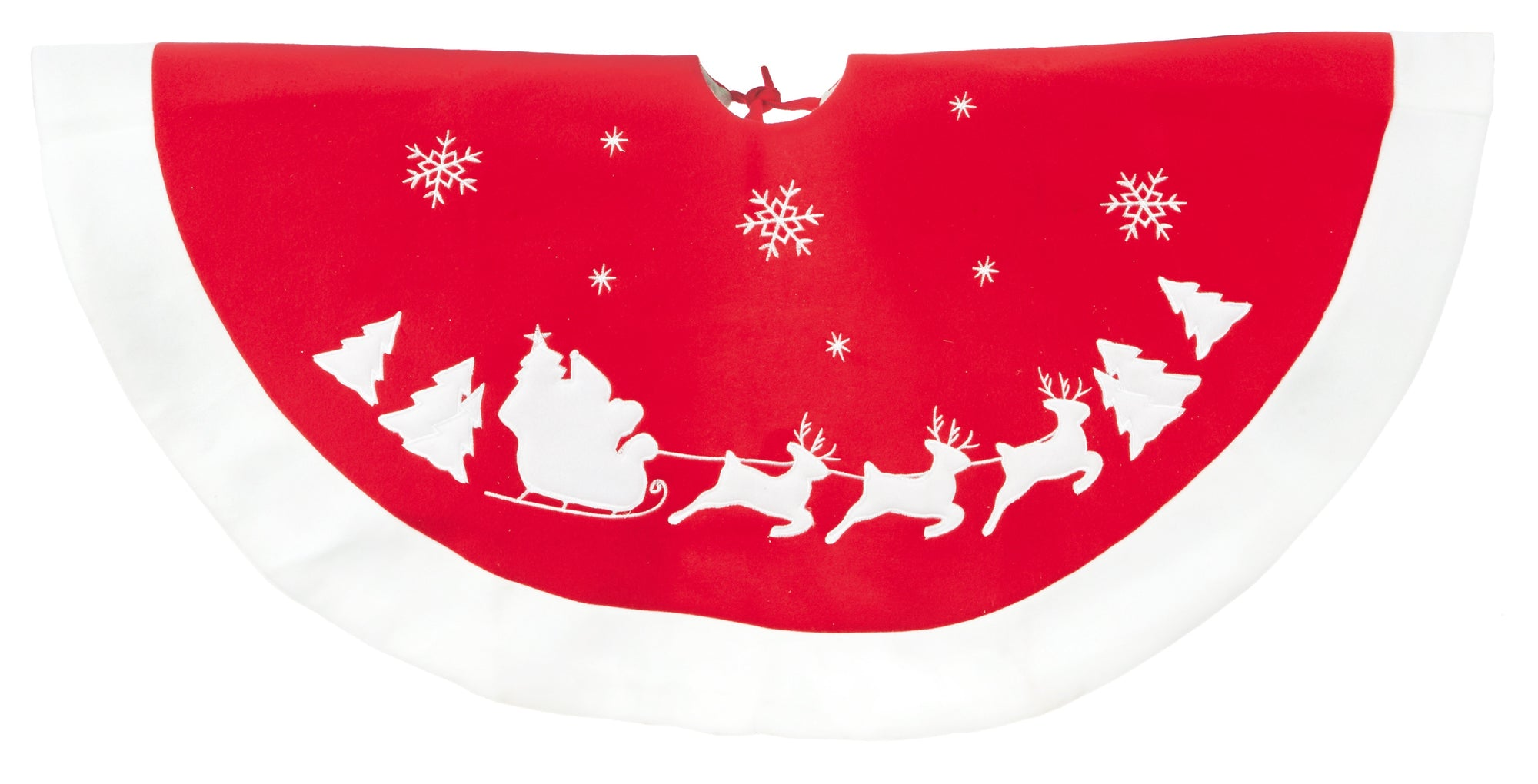 91cm Tree Skirt with Santa and Sleigh
