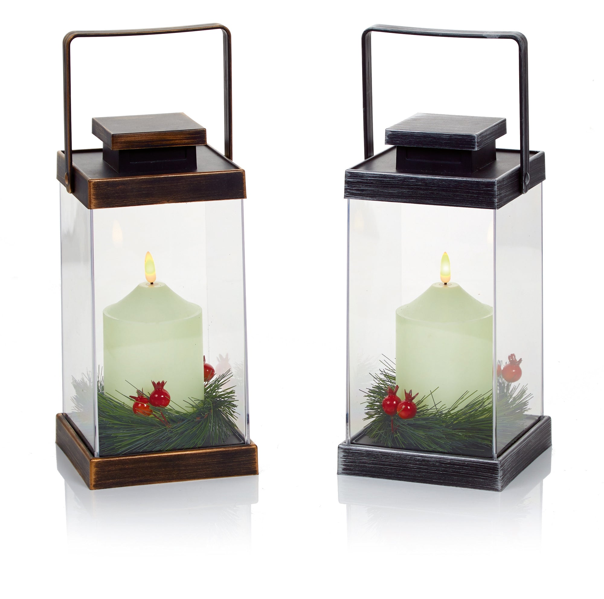 26cm Flickabright Lantern - Outdoor