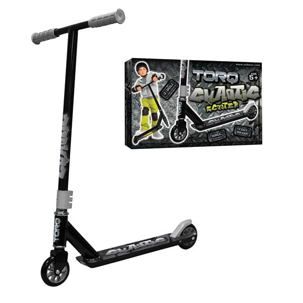 Torq Chaotic Stunt Scooter Black Silver by venntov