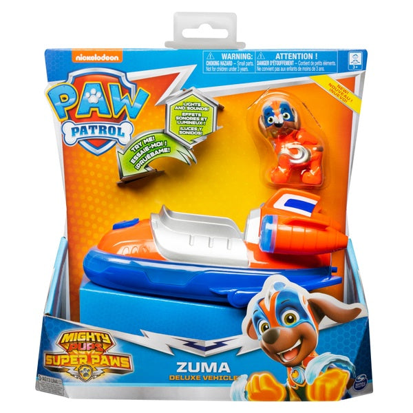 Paw Patrol Mighty Pups Super Paws Zuma Deluxe Vehicle