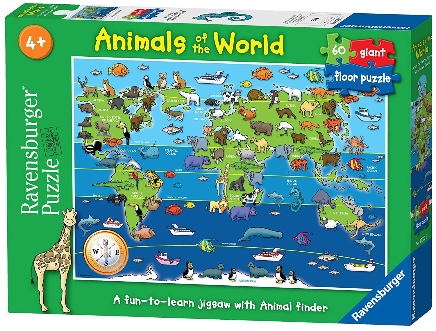 Animals of the World 60pc Giant Floor Jigsaw Puzzle