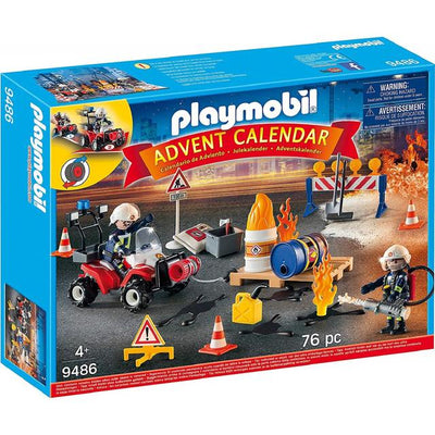 Playmobil Advent Calendar 9486 Construction Site Fire Rescue