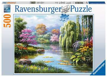 Ravensburger Romantic Pond View 500pc Jigsaw Puzzle