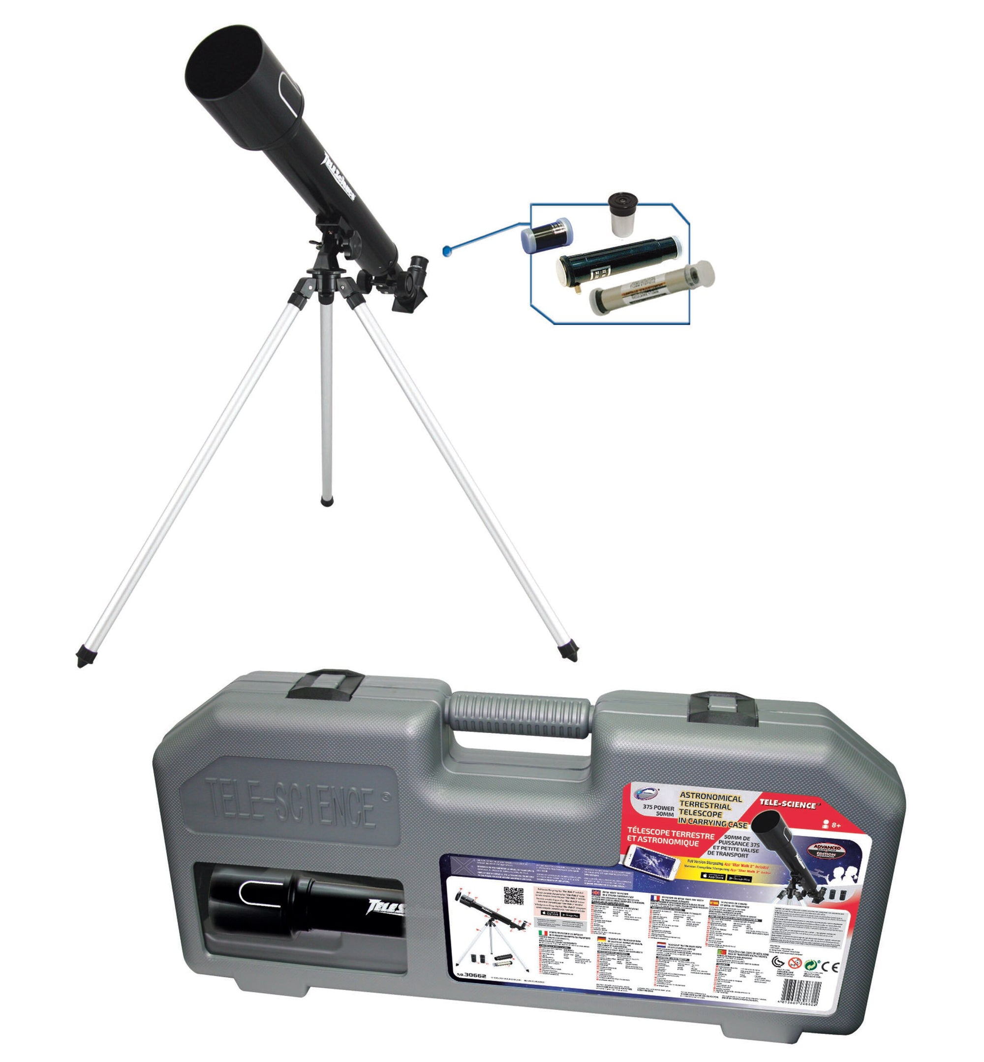 Tele Science 375 Power 50mm Astronomical Telescope