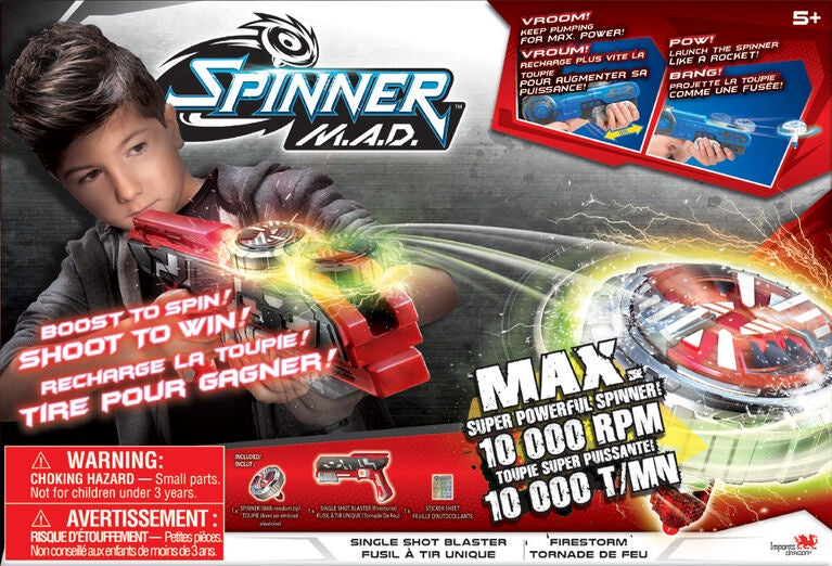 Spinner M.A.D Single Shot Blaster Firestorm