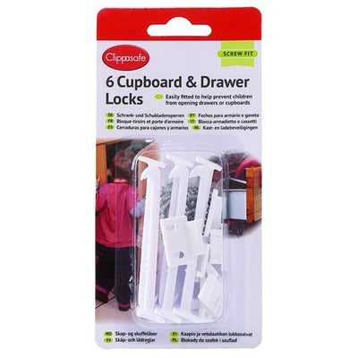 Clippasafe 6x Cupboard & Drawer Locks #71